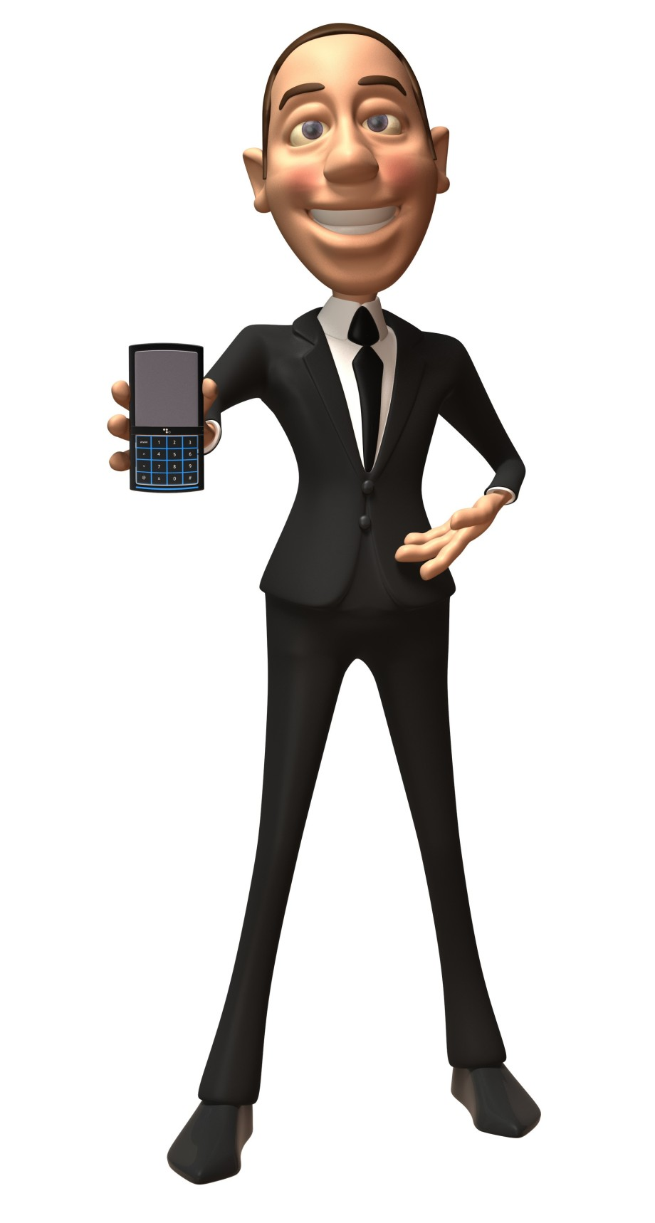 Businessman avec un téléphone mobile